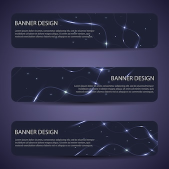 Banners vector abstracto