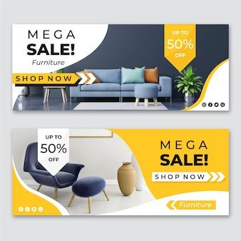 Banners de venta de muebles con foto.