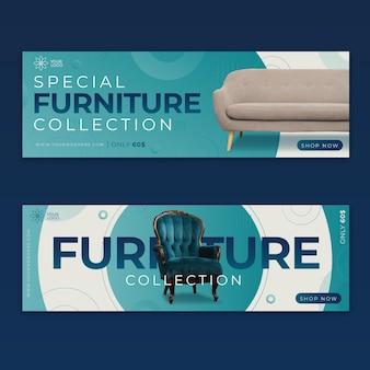 Banners de venta de muebles