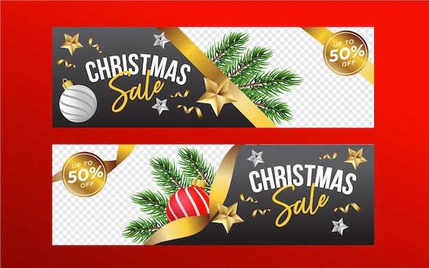 Banners de venta de navidad