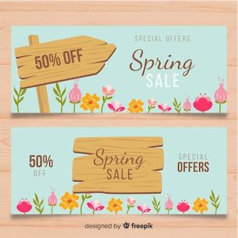 Banners de venta primaveral