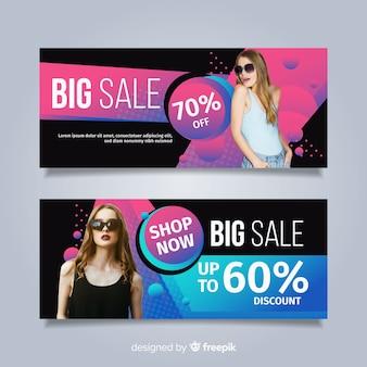 Banners de venta de ropa