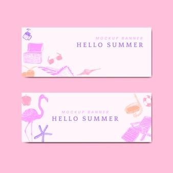 Banners de verano tropical