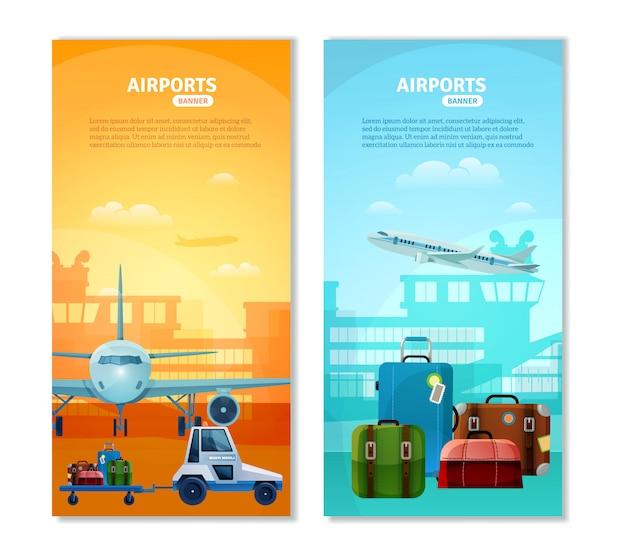 Banners verticales de aeropuerto