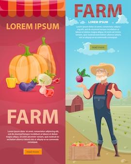 Banners verticales de agricultura ligera