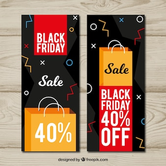 Banners verticales de black friday