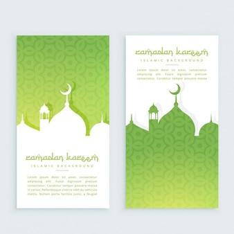 Banners verticales del festival de ramadan