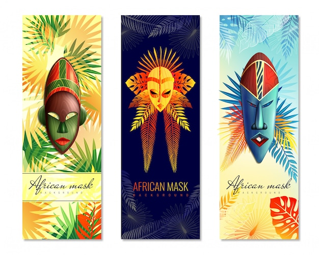 Banners verticales festivos africanos