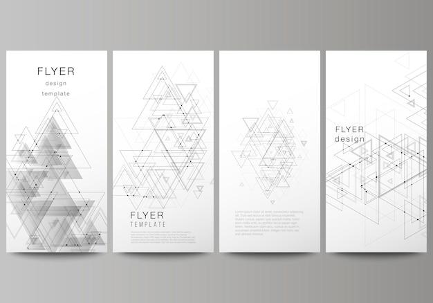 Banners verticales, folletos de diseño de plantillas comerciales.