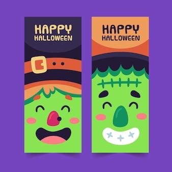 Banners verticales de halloween