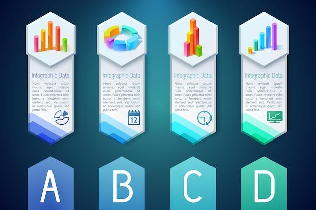 Banners verticales de infografía
