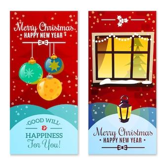 Banners verticales de navidad
