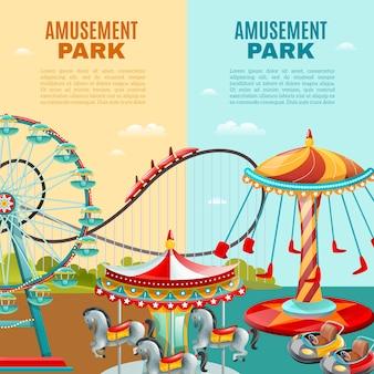 Banners verticales del parque de atracciones