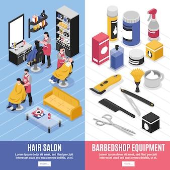 Banners verticales de peluquería