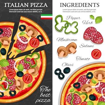 Banners verticales de pizza