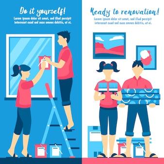 Banners verticales para la renovación del hogar