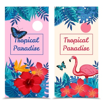 Banners verticales tropicales