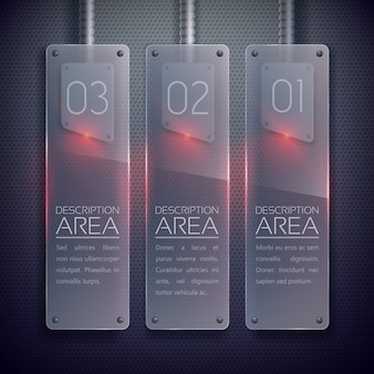 Banners verticales de vidrio empresarial