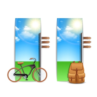 Banners de viaje verticales