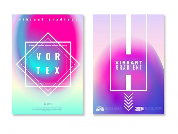Banners vibrantes de diseño degradado