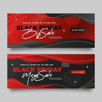 Banners de viernes negro degradados