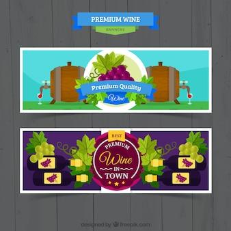 Banners de vino de calidad suprema