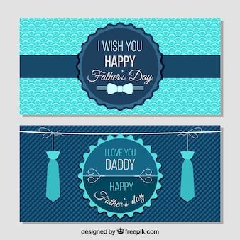 Banners vintage de feliz día del padre