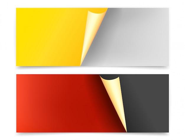 Banners web con conjunto de esquina de flexión