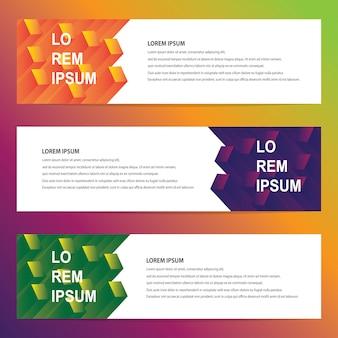 Banners web con diseño geométrico moderno
