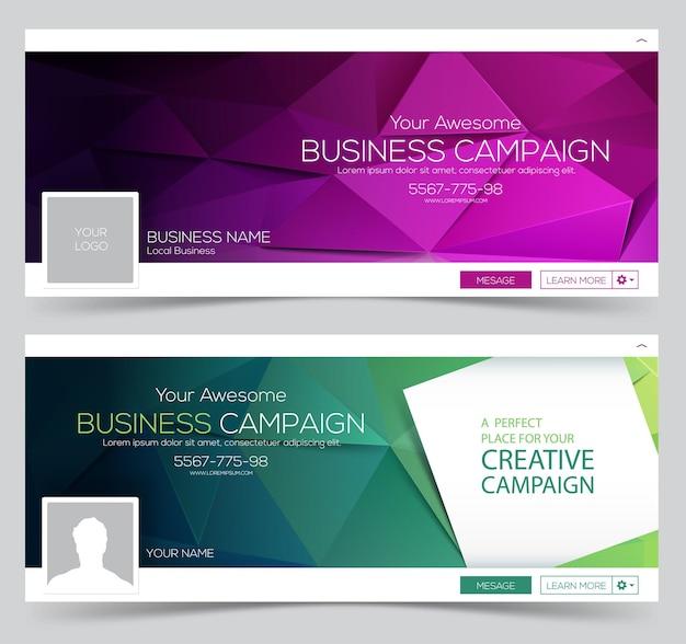 Banners web para portada de redes sociales