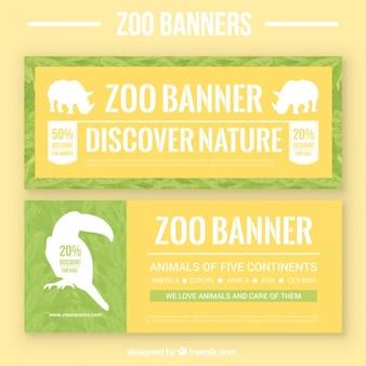 Banners de zoo con siluetas