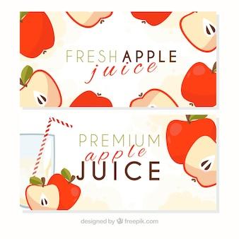 Banners de zumo de manzanas