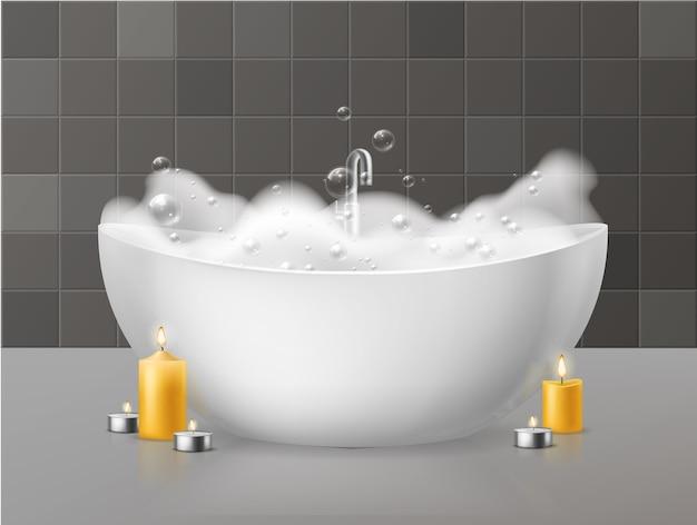 Baño con espuma.