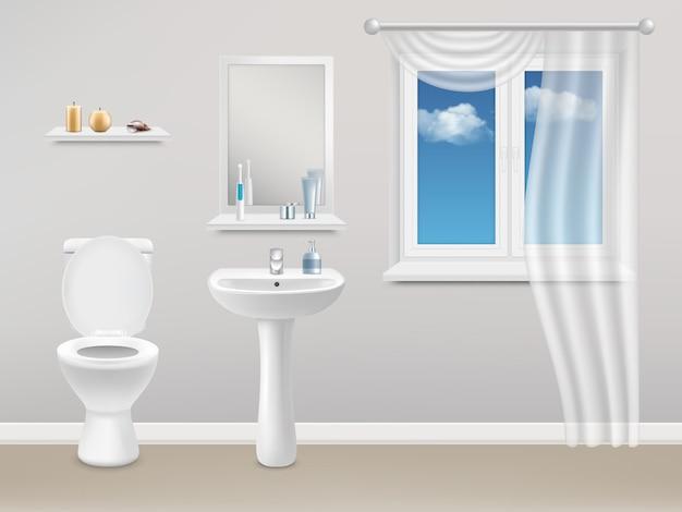 Baño interior realista