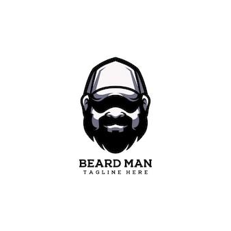 Barba hombre chico guapo sombrero adulto barbero feliz
