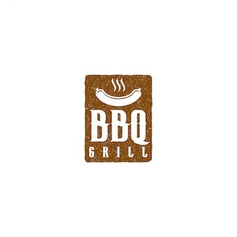 Barbacoa barbacoa parrilla restaurante comida bebida logotipo, barbacoa fuego carne salchicha espátula elemento