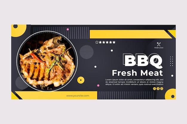 Barbacoa mejor plantilla de banner de restaurante de comida rápida