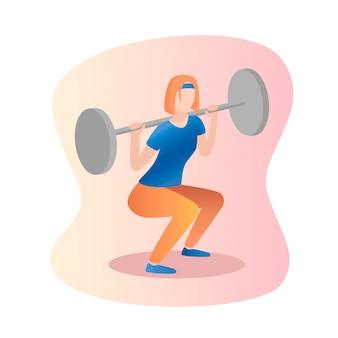Barbell squat mujeres