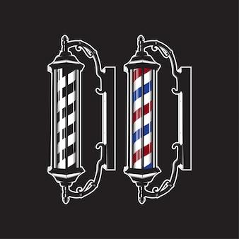Barber pole vintage aislado alta detallada