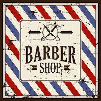 Barbería barber shop signo señalización