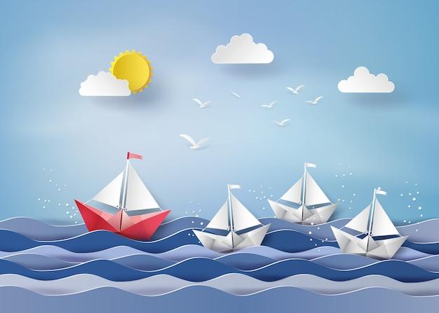 Barco de vela de papel