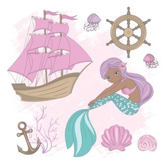 Barco mermaid crucero de verano mar océano