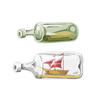 Barco pirata en botella