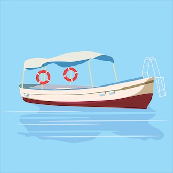 Barco de recreo del mar