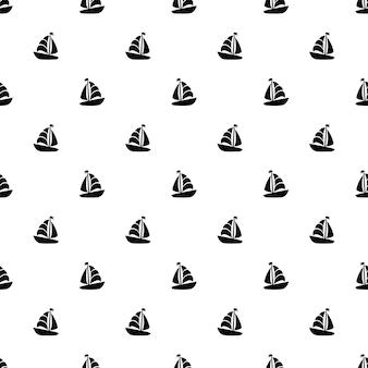 Barco de vela de patrones sin fisuras
