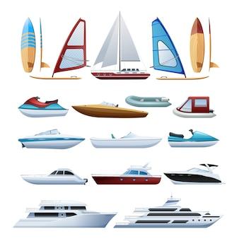 Los barcos de motor catamarán windsurfista