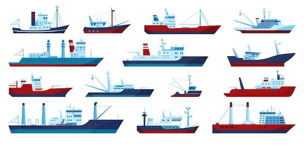 Barcos de pesca pesca comercial arrastrero yate pescador barco pescador conjunto de barcos
