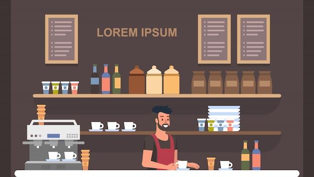 Barista cafetería interior