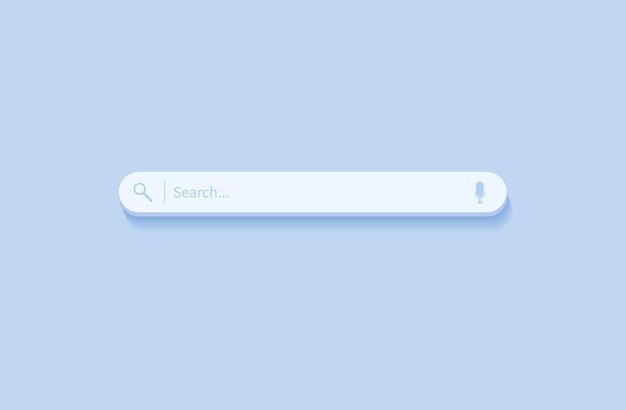 Barra de búsqueda elemento de diseño barra de búsqueda para sitios web y aplicaciones móviles de interfaz de usuario