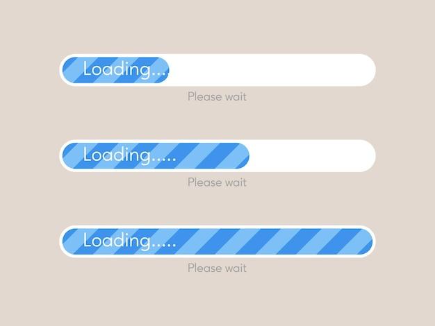 Barra de carga de progreso, concepto de carga